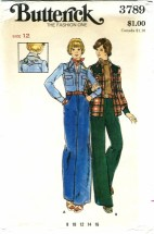 Butterick 3789 Shirt Pants Embroidery Transfer Size 12 - Bust 34