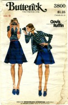Butterick 3800 CLOVIS RUFFIN Cardigan Jacket Top Skirt Size 8 - Bust 31 1/2