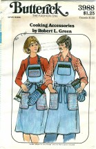 Butterick 3988 Sewing Pattern Cooking Accessories Aprons Mitts