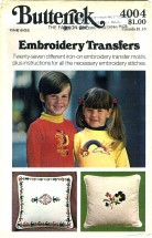 Butterick 4004 Embroidery Transfers