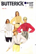 Butterick 4127 Sewing Pattern Front Button Blouse Size 14 - Bust 36