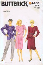 Butterick 4133 Sewing Pattern Tunic Top Skirt Half Size 16 1/2 - Bust 39