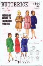 Butterick 4144 Girls Coat Size 8