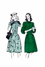 Butterick 4180 Vintage Sewing Pattern Teens Long Torso Dress Size 12 Bust 30
