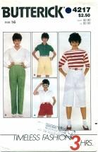 Butterick 4217 3 HOUR Shorts & Pants Size 16