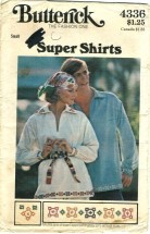 Butterick 4336 Hippie Shirt Size 8 - 10 - Bust 31 1/2 - 32 1/2