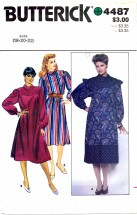 Butterick 4487 Loose Fitting Dress Size 18 - 22 - Bust 40 - 44