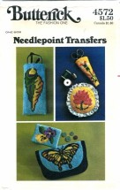 Butterick 4572 Needlepoint Transfers