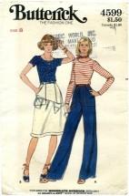 Butterick 4599 Top Skirt Pants Size 8 - Bust 31 1/2