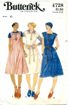 Butterick 4728 Jumper Dress Top Skirt Belt Size 10
