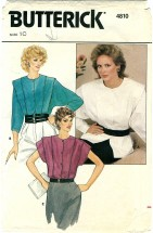 Butterick 4810 Sewing Pattern Misses Blouse Size 10 - Bust 32 1/2