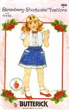 Butterick 4826 STRAWBERRY SHORTCAKE Blouse Bow Tie Skirt Size 5 - 6X