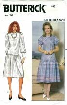Butterick 4831 BELLE FRANCE Misses Dress Size 12