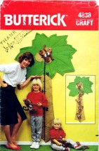 Butterick 4838 Growth Chart Vintage Sewing Pattern