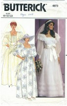 Butterick 4873 Bridal Wedding Gown Size 8 - 12 - Bust 31 1/2 - 34