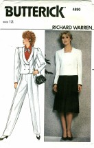 Butterick 4890 RICHARD WARREN Jacket Skirt Pants Size 12 - Bust 34