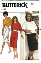 Butterick 4895 EVAN-PICONE Top Skirt Dress Size 10 - Bust 32 1/2