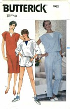 Butterick 4932 Dress Top Pants Shorts Size 10 - Bust 32 1/2