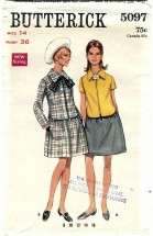 Butterick 5097 Misses Two-Piece Dress Size 14