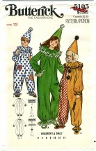Butterick 5105 Clown Costume Size 12