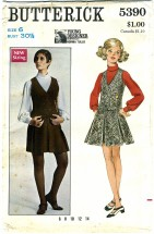 Butterick 5390 Vintage Sewing Pattern Designer Norma Tullo Misses Jumper Blouse Size 6
