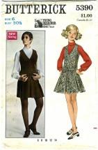 Butterick 5390 Vintage Sewing Pattern Designer Norma Tullo Misses Jumper Blouse Size 6