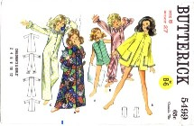 1960's Butterick 5499 Sewing Pattern Girls Robe Pajamas Size 8