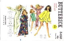 1960's Butterick 5499 Sewing Pattern Girls Robe Pajamas Size 8