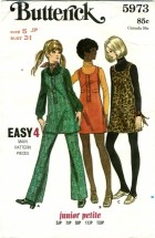 Butterick 5973 Vintage Sewing Pattern Junior Petite Pants Size 5 - Bust 31