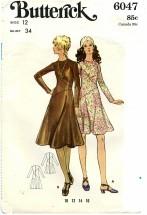 Butterick 6047 Asymmetrical Dress Size 12 - Bust 34