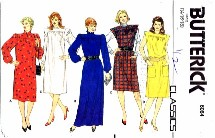 Butterick 6064 Misses Pullover Dress Size 14 - 18 - Bust 36 - 40