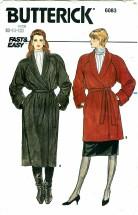 Butterick 6083 Wrap Coat Size 8 - 12 - Bust 31 1/2 - 34