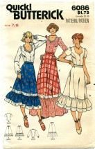 Butterick 6086 Blouse & Skirt Size 7 / 8