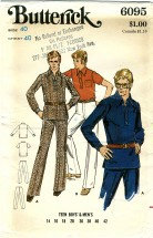 Butterick 6095 Mens Shirt & Pants Chest 40