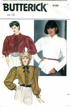 Butterick 6195 Pullover Top Size 12 - Bust 34