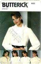 Butterick 6222 Blouse & Collars Size 8 - 12 - Bust 31 1/2 - 34