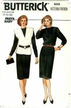 Butterick 6243 Dress & Vest Size 8 - 12 - Bust 31 1/2 - 34