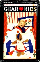 Butterick 6414 Crib Quilt Pajama Bag Bear Toy
