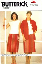 Butterick 6457 Sewing Pattern Evan Picone Jacket Top Skirt Suit Size 8 - 12