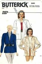 Butterick 6463 Misses Jacket Size 10 - Bust 32 1/2