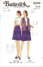 Butterick 6588 Jacket Blouse Skirt Suit Size 12 - Bust 34