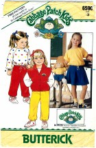 Butterick 6590 Cabbage Patch Kids Girls Vest Top Skirt Pants Size 3