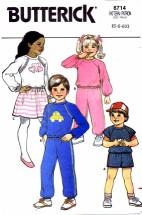 Butterick 6714 Top Shorts Skirt Pants Size 5 - 6