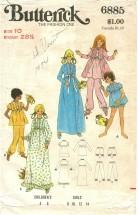 Butterick 6885 Robe Nightgown Pajamas Size 10