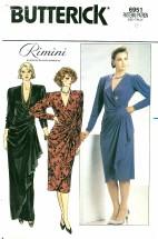 Butterick 6951 Straight Wrap Dress Size 8 - Bust 31 1/2
