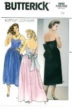 Butterick 6952 Boned Strapless Dress Size 10 - Bust 32 1/2