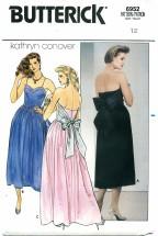 Butterick 6952 Boned Strapless Dress Size 12 - Bust 34