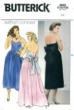 Butterick 6952 Boned Strapless Dress Size 14 - Bust 36