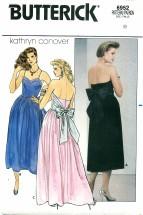 Butterick 6952 Boned Strapless Dress Size 8 - Bust 31 1/2