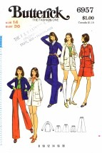 Butterick 6957 Vintage Sewing Pattern Misses Jacket Skirt Pants Shorts Size 14 Bust 36